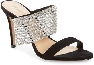 Schutz Sania Crystal Fringe Slide Sandal