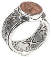 Konstantino Men's Aeolus Sterling Silver & Scylla Copper Coin Ring, Size 11