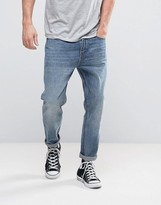 Rollas Stubs Cropped Jeans Stoned Authentic Wash