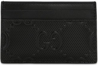 Gucci Gg Debossed Leather Card Holder