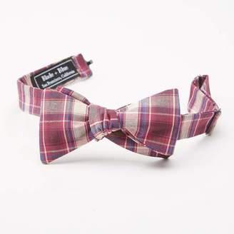 Blade + Blue Burgundy Plaid Cotton Bow Tie