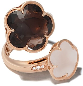 Pasquale Bruni 18kt rose gold Bon Ton quartz and diamond ring