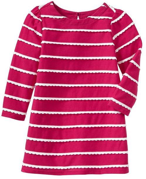 Gap Scallop-stripe dress