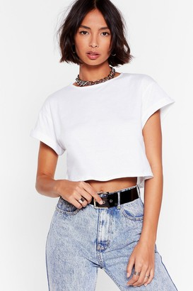 Nasty Gal Womens Let the Good Times Roll Cropped Tee - White - 4