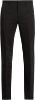 Calvin Klein Collection Crosby slim-leg cotton and linen-blend trousers