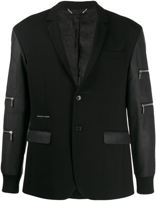 Philipp Plein Zipped Sleeve Blazer