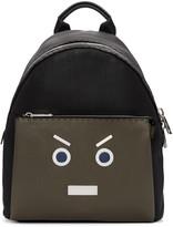 Fendi Black & Green New Monster Backpack