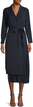 Lea & Viola Asymmetrical Pleated Shirtdress