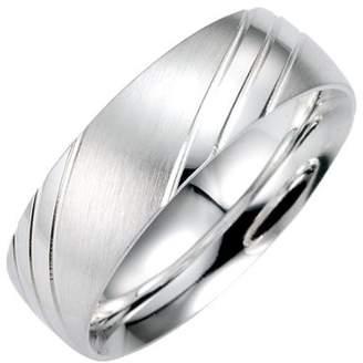 Bruno Banani Unisex 49/91011-0 Sterling Silver 926 Plain Ring Size S 1/2