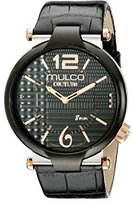 Mulco Men's MW5-3183-025 Couture Slim Analog Display Swiss Quartz Black Watch