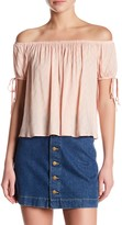 Lush Off-the-Shoulder Tie Sleeve Blouse