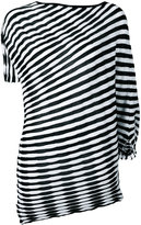 Issey Miyake striped top - women - Cotton/Polyester/Triacetate - 2