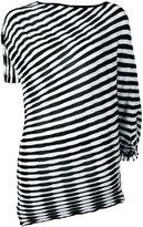 Issey Miyake striped top - women - Cotton/Polyester/Triacetate - 2