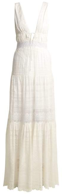 Jonathan Simkhai Embroidered Lace Silk Dress - Womens - White