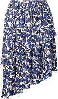Osman floral print draped skirt