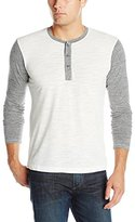 Splendid Mills Men's Heathered Jersey Long-Sleeve Henley Shirt