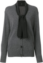Joseph knitted cardigan with neck tie detail