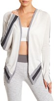 Blanc Noir Hooded Wrap Silk Blend Cardigan