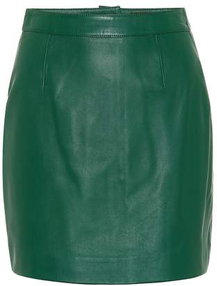 ALEXACHUNG Leather miniskirt
