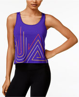 Under Armour Fly By 2.0 Cropped Graphic Tank Top