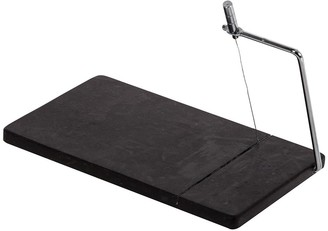 Davis & Waddell Fine Foods Black Marble Cheese Slicing Board with Spare Wire