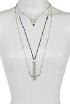 Joe Fresh Multi Row Charm & Tassel Necklace