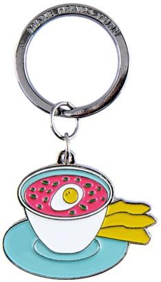 Make Heads Turn Enamel Keychain Pink Cold Soup