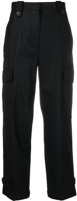 Pt01 High-Rise Cropped Cargo Trousers