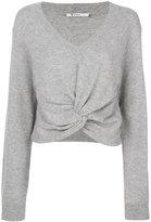 Alexander Wang twist front sweater - women - Cashmere/Wool - S