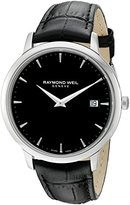 Raymond Weil Men's 'Toccata' Swiss Quartz Stainless Steel and Leather Casual Watch, Color:Black (Model: 5588-STC-20001)