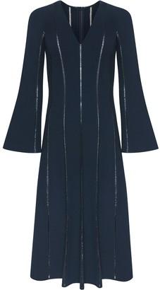 Oscar de la Renta Panelled Flared Midi Dress