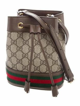 Gucci GG Supreme Mini Ophidia Bucket Bag Gold