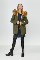 Thumbnail for your product : Coast Hooded Faux Fur Trim Parka Coat