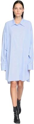 Maison Margiela Oversize Cotton Poplin Shirt Dress