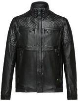 Hugo Boss Jomes Lamb Leather Bomber Jacket L Black