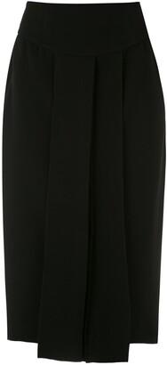 Gloria Coelho Pleat Midi Skirt