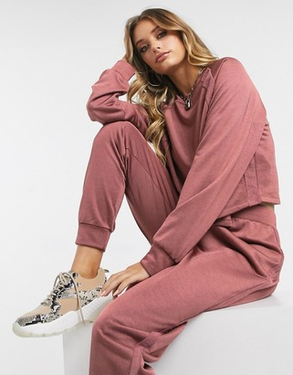 ASOS DESIGN tracksuit sweat / jogger in slinky loopback