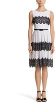 White House Black Market Lace Fit & Flare Dress