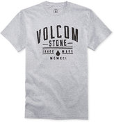 Volcom Men's Cultivation Heathered Graphic-Print Logo T-Shirt