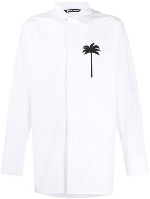Palm Angels Palm Tree Print Shirt