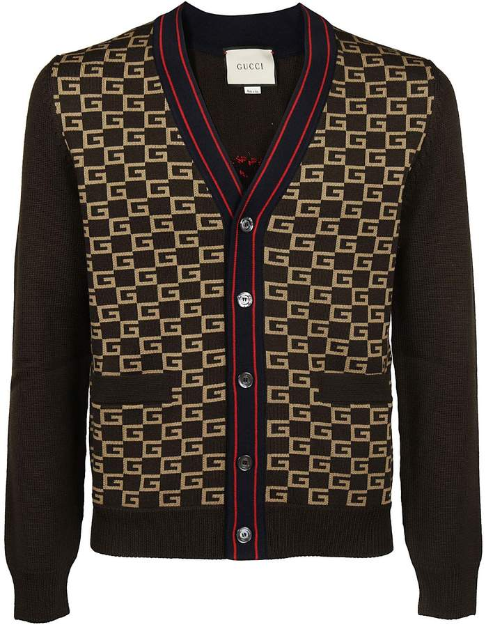 Gucci Knitted G-square Cardigan