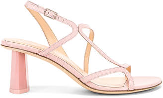 BY FAR Bridgette Sandal in Blush Leather | FWRD