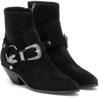 Saint Laurent West Harness suede ankle boots