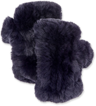 Surell Accessories Fingerless Fur Mittens