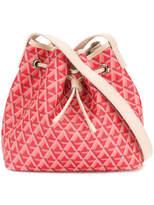 Lancaster geometric print drawstring shoulder bag