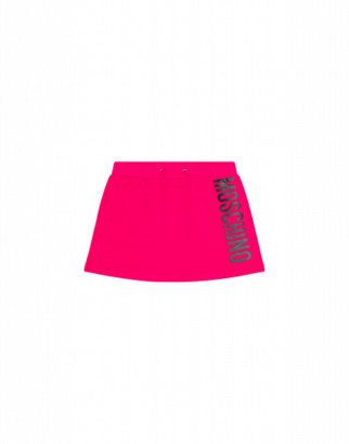 Moschino Skirt With Logo Woman Fuchsia Size 6a It - (6y Us)