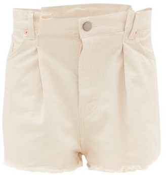 Raey Fold Raw-hem Denim Shorts - Ivory
