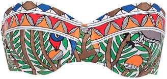 Tory Burch Printed Bandeau Bikini Top