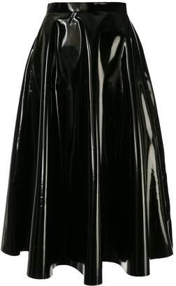 AKIRA NAKA high-waisted patent skirt