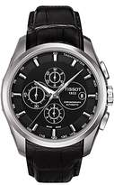 Tissot T0356271605100 Couturier Chronograph Date Leather Strap Watch, Black